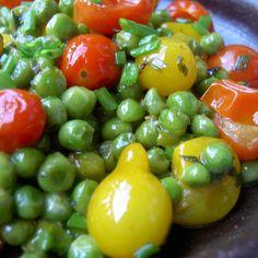 Fresh Heirloom Cherry Tomatoes and Peas