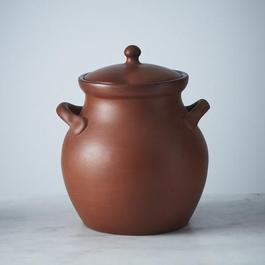 Egyptian Terra Cotta Clay Bean Pot - 2 ½ Qt.
