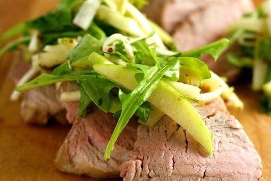 Pork Tenderloin with Apple-Celery Root Slaw