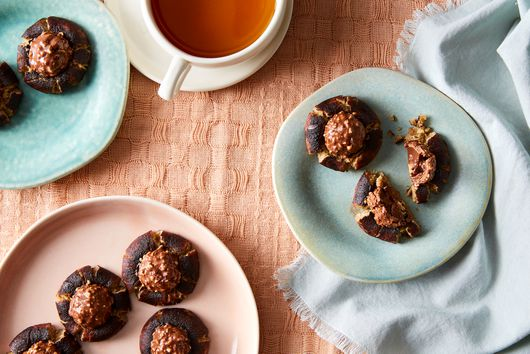 Chocolate-Hazelnut Thumbprint Cookies