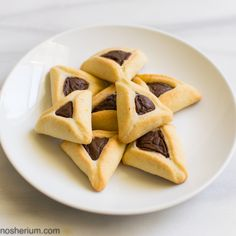 Vegan Chocolate-Sesame Hamantaschen Cookies
