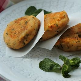 Two Potato Cutlets with Mint and Cumin