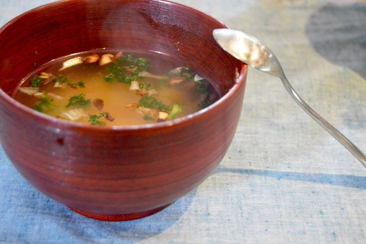 Miso Soup from a miso ball