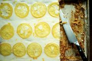 Candied Lemon Sheet Cake