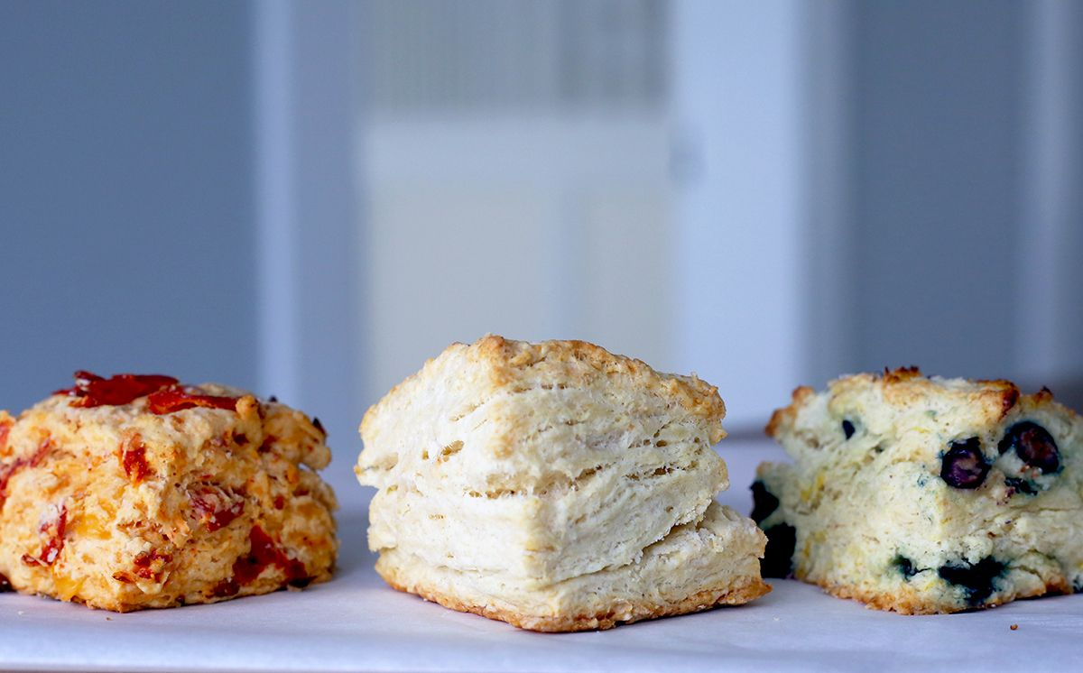 Learn the master biscuit recipe make it in red white for Table 52 biscuit recipe