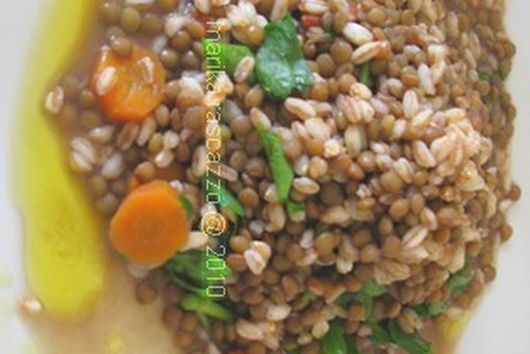 Orzo with Lentils soup