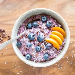 Blackberry Banana Chia Pudding
