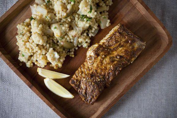 halibut and couscous