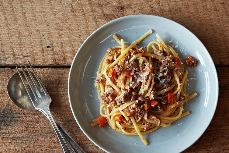Image result for first ever spaghetti bolognese