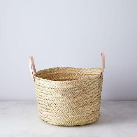 Handwoven Palm Storage Basket