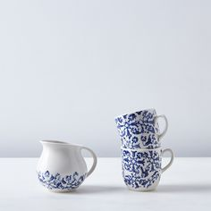 Floral Cups & Creamer