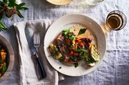 Grilled Pork Chops, Fennel & Orange