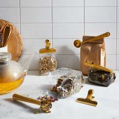 Gold Coffee, Tea, & Organization Clip Set