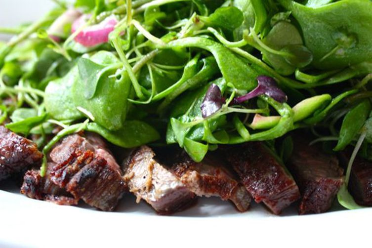 Steak Salad With Micro Greens Recipe On Food52