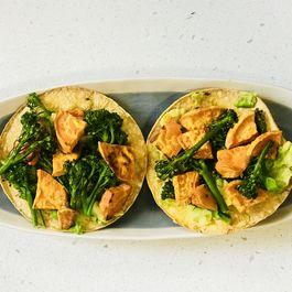 Roasted Sweet Potato and Broccolini Tostadas