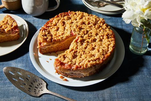Rhubarb Coffee Cake With Cardamom-Ginger Crumble