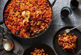 Smoky Baked Rice with Chorizo & All the Garlic (No Peeling, Chopping, Mess)