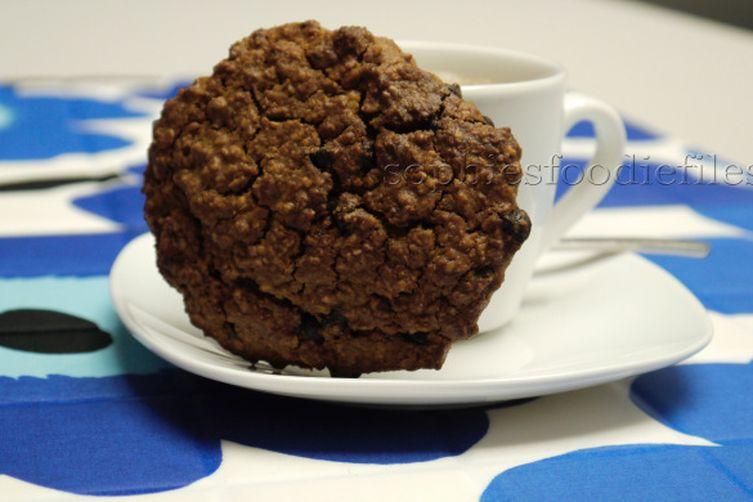 Vegan coconut chocolate chip oat cookies!