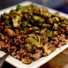 Ground beef Brussel Sprout