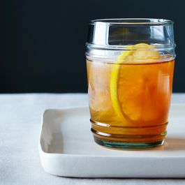 Meyer Lemon-Vanilla Bean Bourbon Smash
