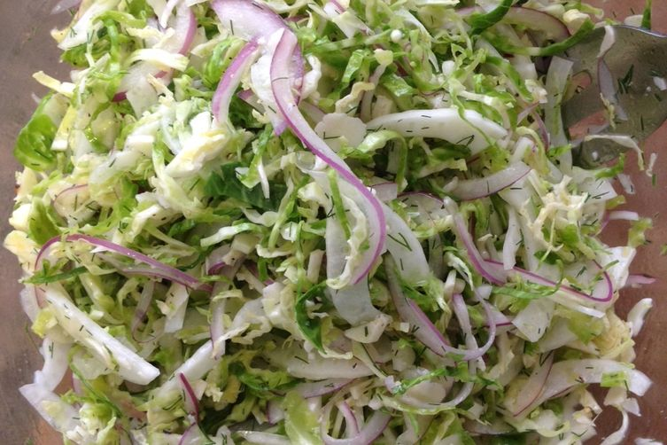Shaved Brussels Sprouts and Fennel Salad