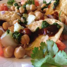 Savory roadside Indian Papri Chaat