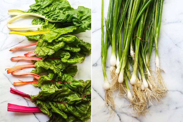 Rainbow Chard Soup with Pickled Chard Stems