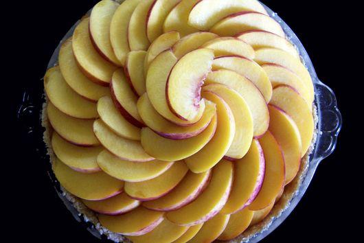 Maple Almond Peach Tart