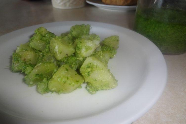 Potato Salad with Turnip Paste