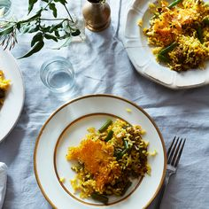 Mahin Joon's Lubiah Polo (Crispy Persian Rice with Beef and Green Beans)