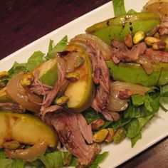 Warm Duck and Grilled Apple Salad