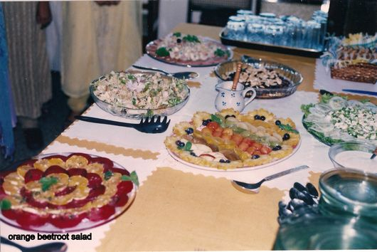 Orange beetroot salad