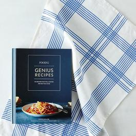 Food52 Signed Genius Cookbook Wrapped in 52 Stripes Tea Towel