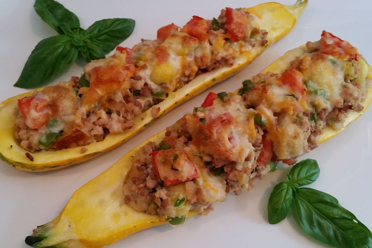 Chicken Stuffed Zucchini