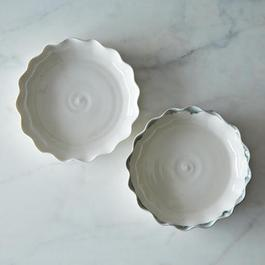 Pie for Two, White Plate with Charcoal Trim