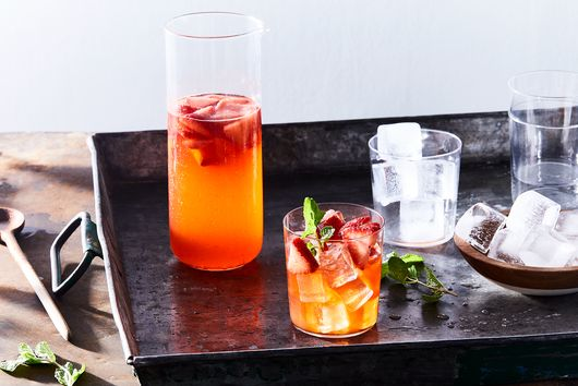 Spring Sangria with Strawberries and Mint