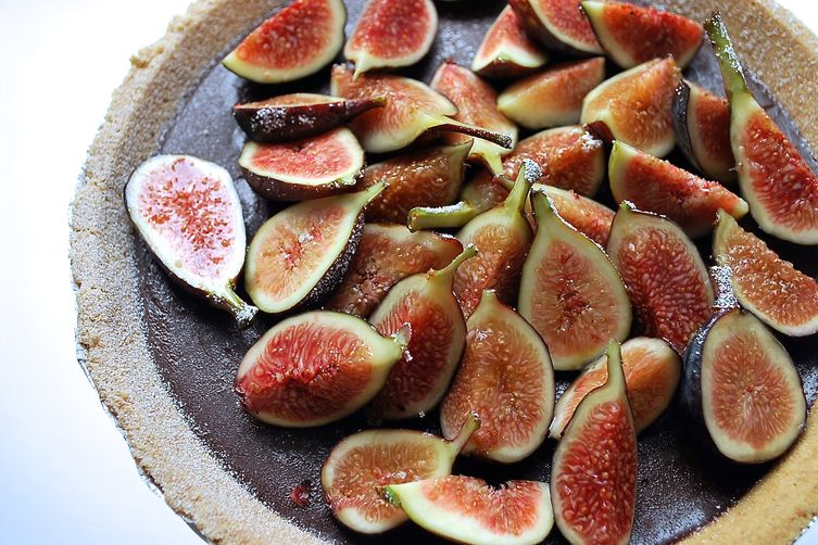 Chocolate Ganache Tart with Fresh Figs