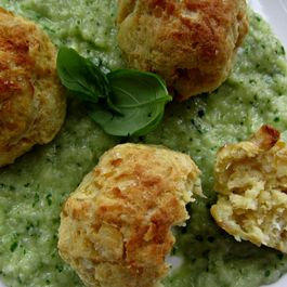 "Roasted Spring Onion and Chickpea ""Meat"" Balls"