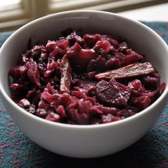 Red Wine Braised Red Cabbage with Apples, Carrots and Beets
