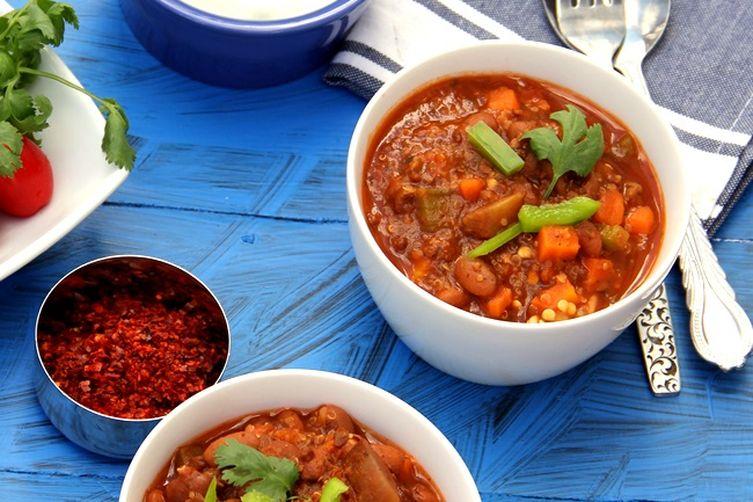 Grandma Bev's Vegetarian Chili