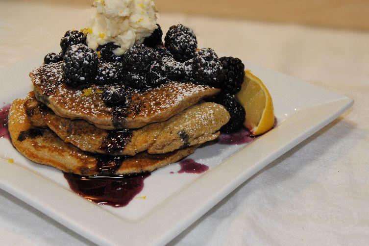 Black and Blue Spelt Pancakes