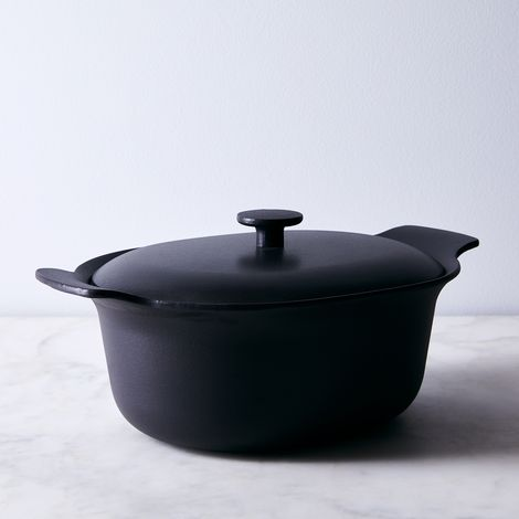 Modern Cast Iron Covered Oval Casserole, 5.5QT