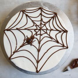 Homemade Halloween Spider Cake