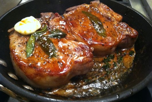 Sage and Walnut Roasted Porkchop