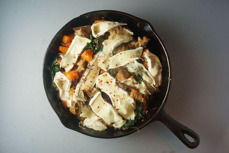 Skillet Butternut Squash & Spinach