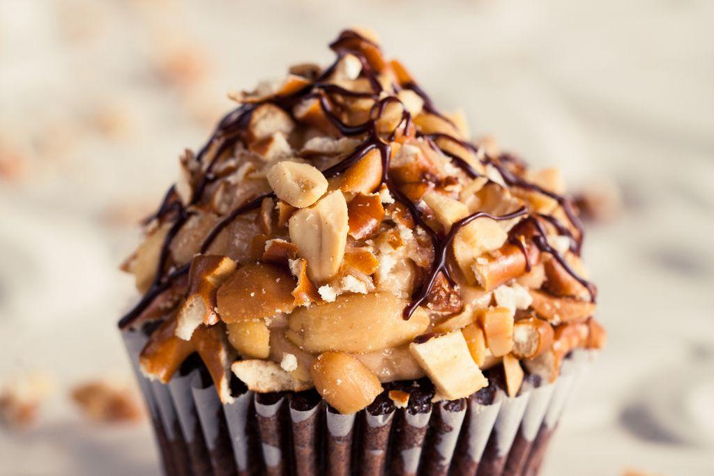 Chocolate Peanut Butter Pretzel Cupcakes on Food52