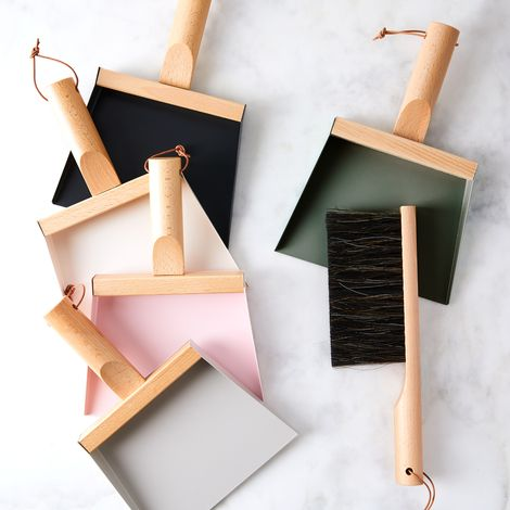 Vintage-Inspired French Hanging Dustpan & Brush Set