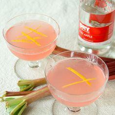 Rhubarb Apple Vodka Collins