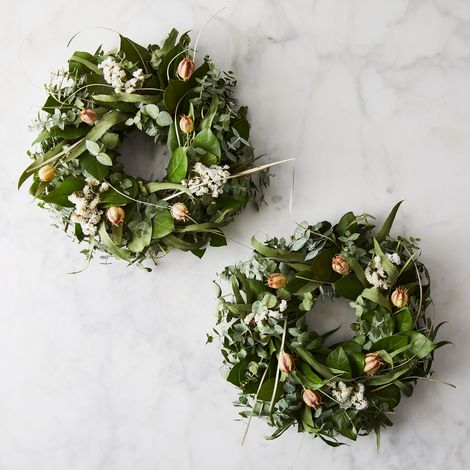 Fragrant Pod Centerpiece Table Wreaths (Set of 2)