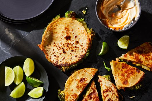 The Mind-Blowing Broccoli Quesadillas I Want to Eat Every Night of the Week